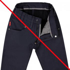 Pantalon doublé adapté pour homme bleu marine